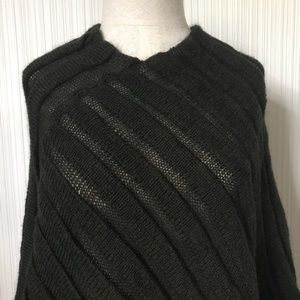 Italian Made Mohair/Wool Blend Poncho